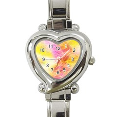 Background Art Abstract Watercolor Heart Italian Charm Watch by Nexatart