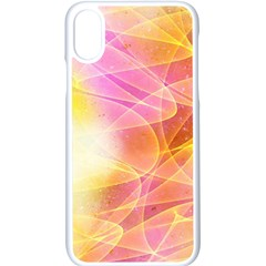 Background Art Abstract Watercolor Apple Iphone X Seamless Case (white) by Nexatart