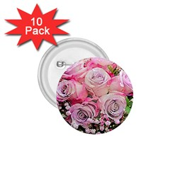 Flowers Bouquet Wedding Art Nature 1 75  Buttons (10 Pack)