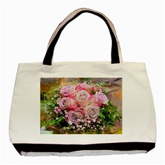 Flowers Bouquet Wedding Art Nature Basic Tote Bag
