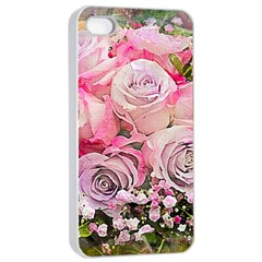 Flowers Bouquet Wedding Art Nature Apple Iphone 4/4s Seamless Case (white)