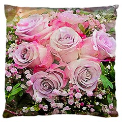 Flowers Bouquet Wedding Art Nature Large Cushion Case (one Side)