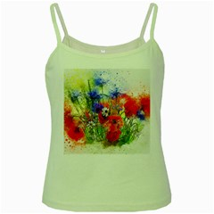 Flowers Bouquet Art Nature Green Spaghetti Tank by Nexatart