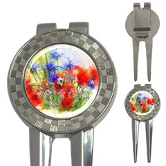 Flowers Bouquet Art Nature 3 In 1 Golf Divots by Nexatart