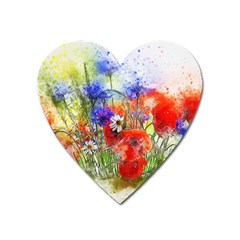 Flowers Bouquet Art Nature Heart Magnet by Nexatart