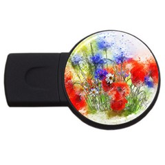 Flowers Bouquet Art Nature Usb Flash Drive Round (2 Gb)