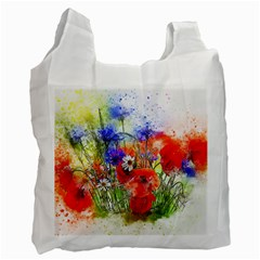 Flowers Bouquet Art Nature Recycle Bag (one Side) by Nexatart