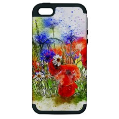 Flowers Bouquet Art Nature Apple Iphone 5 Hardshell Case (pc+silicone) by Nexatart