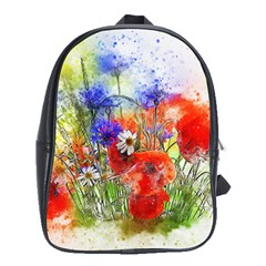 Flowers Bouquet Art Nature School Bag (xl)