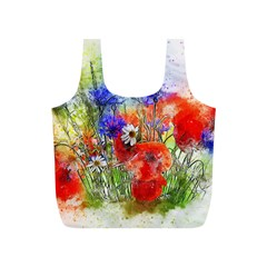 Flowers Bouquet Art Nature Full Print Recycle Bags (s)  by Nexatart