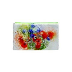 Flowers Bouquet Art Nature Cosmetic Bag (xs) by Nexatart