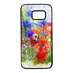 Flowers Bouquet Art Nature Samsung Galaxy S7 Black Seamless Case by Nexatart