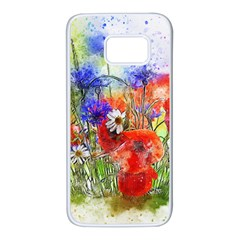 Flowers Bouquet Art Nature Samsung Galaxy S7 White Seamless Case