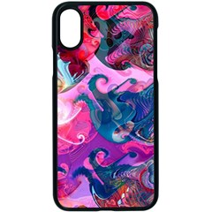 Background Art Abstract Watercolor Apple Iphone X Seamless Case (black) by Nexatart