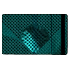 Background Sphere Ball Metal Blue Apple Ipad 2 Flip Case