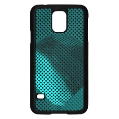 Background Sphere Ball Metal Blue Samsung Galaxy S5 Case (black) by Nexatart
