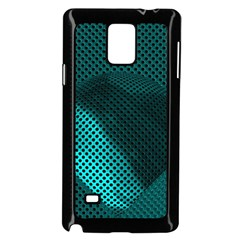 Background Sphere Ball Metal Blue Samsung Galaxy Note 4 Case (black)