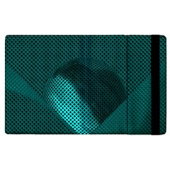 Background Sphere Ball Metal Blue Apple Ipad Pro 9 7   Flip Case by Nexatart