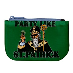 St  Patricks Day  Large Coin Purse by Valentinaart