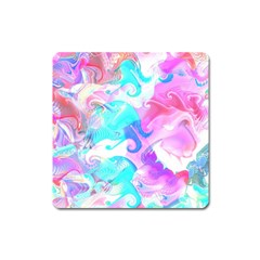Background Art Abstract Watercolor Pattern Square Magnet