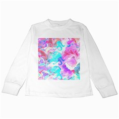 Background Art Abstract Watercolor Pattern Kids Long Sleeve T Shirts