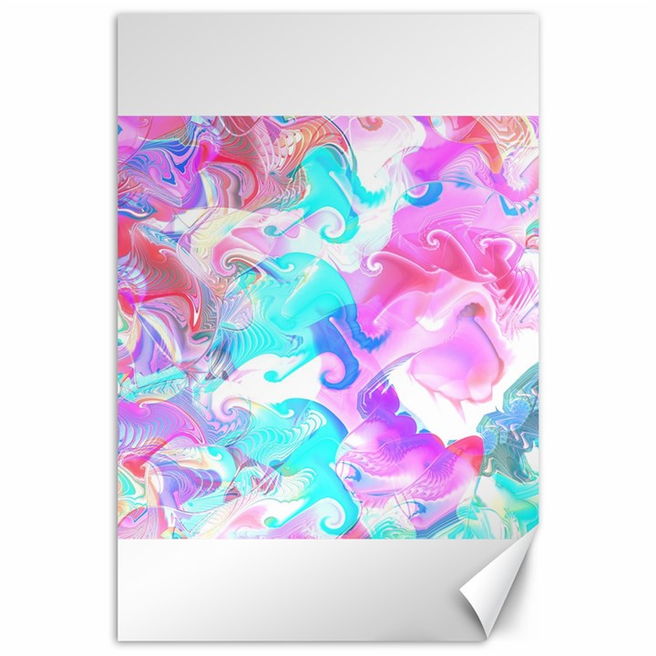 Background Art Abstract Watercolor Pattern Canvas 24  x 36