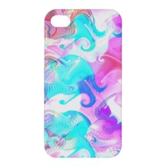 Background Art Abstract Watercolor Pattern Apple Iphone 4/4s Premium Hardshell Case