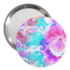 Background Art Abstract Watercolor Pattern 3  Handbag Mirrors