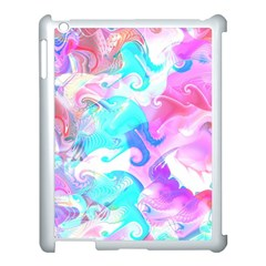 Background Art Abstract Watercolor Pattern Apple Ipad 3/4 Case (white) by Nexatart