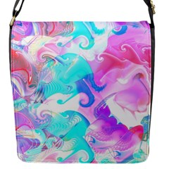 Background Art Abstract Watercolor Pattern Flap Messenger Bag (s) by Nexatart