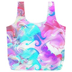 Background Art Abstract Watercolor Pattern Full Print Recycle Bags (l)