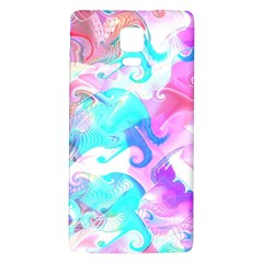 Background Art Abstract Watercolor Pattern Galaxy Note 4 Back Case by Nexatart
