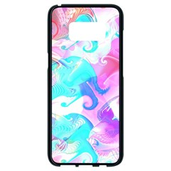 Background Art Abstract Watercolor Pattern Samsung Galaxy S8 Black Seamless Case by Nexatart