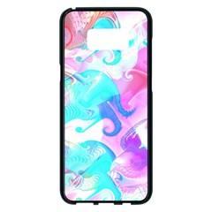 Background Art Abstract Watercolor Pattern Samsung Galaxy S8 Plus Black Seamless Case