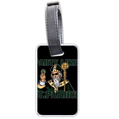 St  Patricks Day  Luggage Tags (two Sides) by Valentinaart