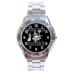 St  Patricks Day  Stainless Steel Analogue Watch by Valentinaart