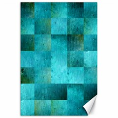 Background Squares Blue Green Canvas 20  X 30   by Nexatart