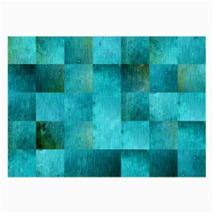 Background Squares Blue Green Large Glasses Cloth (2 Side)