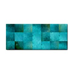Background Squares Blue Green Cosmetic Storage Cases