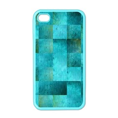 Background Squares Blue Green Apple Iphone 4 Case (color)