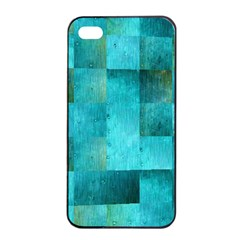 Background Squares Blue Green Apple Iphone 4/4s Seamless Case (black) by Nexatart