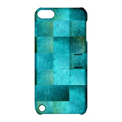 Background Squares Blue Green Apple Ipod Touch 5 Hardshell Case With Stand by Nexatart