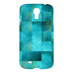 Background Squares Blue Green Samsung Galaxy S4 I9500/i9505 Hardshell Case by Nexatart