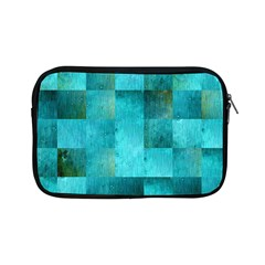 Background Squares Blue Green Apple Ipad Mini Zipper Cases