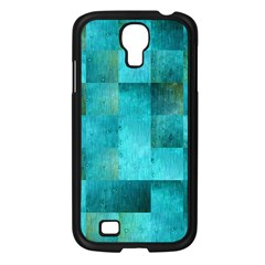 Background Squares Blue Green Samsung Galaxy S4 I9500/ I9505 Case (black) by Nexatart