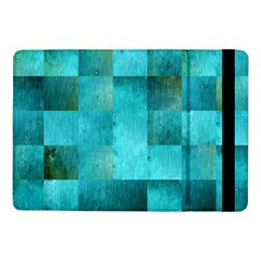 Background Squares Blue Green Samsung Galaxy Tab Pro 10 1  Flip Case by Nexatart