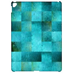 Background Squares Blue Green Apple Ipad Pro 12 9   Hardshell Case by Nexatart