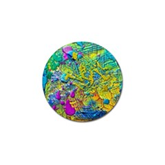 Background Art Abstract Watercolor Golf Ball Marker (4 Pack)