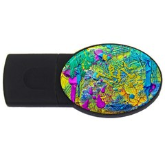 Background Art Abstract Watercolor Usb Flash Drive Oval (2 Gb) by Nexatart