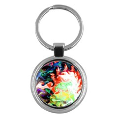 Background Art Abstract Watercolor Key Chains (round)  by Nexatart